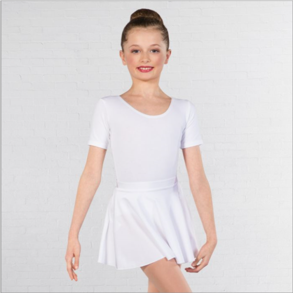 Simply Dance Academy White Lycra Skirt