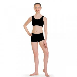 Simply Dance Academy Black Lycra Shorts
