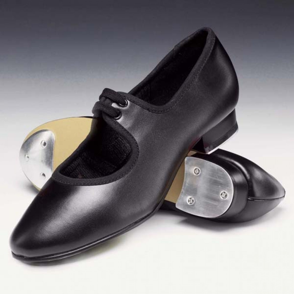 all sizes with heel and toe taps Silver PU low heel tap shoes