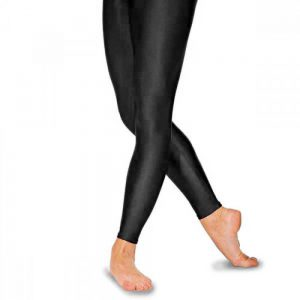 Simply Dance Academy Black Footless Tights