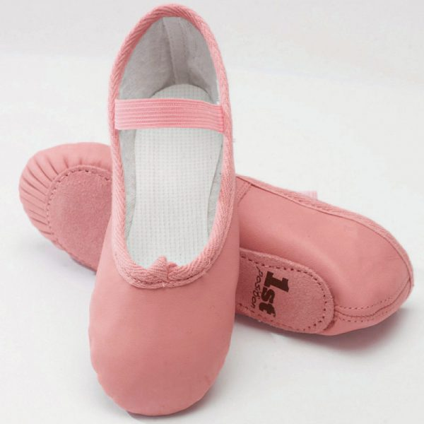 Simply Dance Academy Pink Leather Ballet Shoes