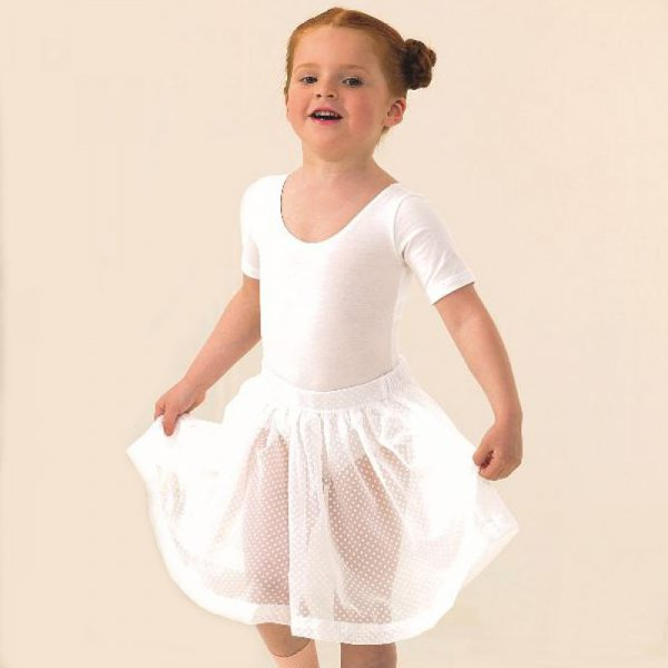 Simply Dance Academy White Voile Skirt
